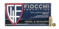 Fiocchi Shooting Dynamics 10mm ACP 180gr, Jacketed Hollow Point, 50rd Box