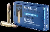 PPU Standard Rifle 270 Winchester 130gr, Soft Point, 20rd Box