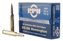 PPU Standard Rifle 25-06 Remington 100gr, Pointed Soft Point, 20rd Box