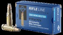PPU Standard Rifle 308 Win/7.62 NATO 180gr, Soft Point, 20rd Box