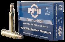 PPU Standard Rifle 300 Win Mag 180gr, Soft Point, 20rd Box