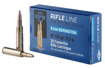 PPU Standard Rifle 6mm Remington 100gr, Soft Point, 20rd Box