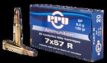 PPU Metric Rifle 7x57R 139gr, Soft Point, 20rd Box