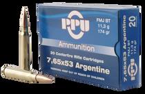 PPU Metric Rifle 7.65x53mm Argentine 174gr Full Metal Jacket 20 Bx/ 10 C