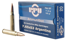PPU Metric Rifle 7.65x53mm Argentine 180gr Soft Point, 20rd Box