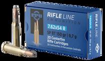 PPU Metric Rifle 7.62x54mm Russian 150gr, Soft Point, 20rd Box