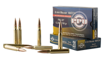 PPU Metric Rifle 8mm Mauser 198gr, Full Metal Jacket, 20rd Box