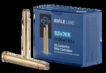 PPU Metric Rifle 9.3mmX74R 285gr, Soft Point, 20rd Box