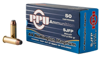 PPU Handgun 44 Rem Mag 300gr, Semi Jacketed Flat Point, 50rd Box