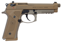 "Beretta M9A3 *NY/NJ Compliant 9mm 5.10"" Barrel, Flat Dark Earth Frame Black Steel Slide, 10rd Mag"