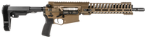 "POF Revolution Pistol, .308, 12.5"" Deep Fluted Barrel,  Piston, 11.5"" Modular Rail, Sb-A3 5 Position Collapsible Brace, Cerakote Burnt Bronze 20rd Mag"