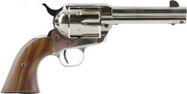 "Standard Mfg Single Action Revolver 45 Colt 4.75"" Barrel, Nickel Plated, Walnut 2 Pc Grip"