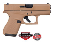 "Glock 42 380acp, Apollo Custom, 3.26"" Barrel Davidson Dark Earth Full Coverage, 2x 6rd Mags"