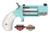 "North American Arms NAA Pug 22mag 1"" Heavy Barrel Turquoise Cerakote"