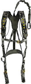 Walkers Elevate Line Safety Harness Padded Nylon Chaos Black
