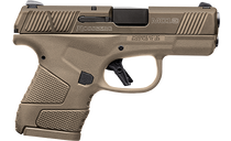 "Mossberg MC1 Sub-Compact, Striker Fired, 9mm, 3.4"" Barrel, Flat Dark Earth, 1-6Rd, 1-7Rd Mag, Ambi Non-Manual Safety, 3 Dot Sight"