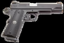 "Wilson Combat ACP Full-Size 1911 SAO 45 ACP 5"",  Black Armor-Tuff Carbon Steel Black G10 Eagle Claw Grip,  8 rd"