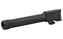 Grey Ghost Match Grade Barrel, 9mm, Black Nitride Finish, Threaded, Fits Glock 19 Gen3 and Gen4