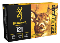 "Browning Rifled Slug 12 Ga, 2.75"", 1oz, 1 Shot, 5rd Box"