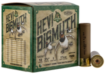 "Hevishot Hevi-Bismuth Waterfowl 12 Ga, 3.50"", 1 1/2oz, 1 Shot, 25rd Box"