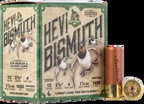 "Hevishot Hevi-Bismuth Waterfowl 12 Ga, 2.75"", 1 1/4oz, 4 Shot, 25rd Box"