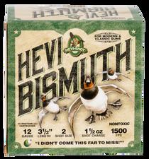 "Hevishot Hevi-Bismuth Waterfowl 12 Ga, 3.50"", 1 1/2oz, 2 Shot, 25rd Box"