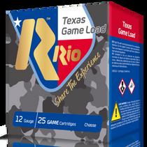 """Rio Top Game Texas Game Load High Velocity 12 Ga, 2.75"""", 1-1/4oz, 8 Shot, 25rd Box"""
