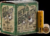 "Hevishot Hevi-Bismuth Waterfowl 20 Ga, 3.00"", 1 1/8oz, 4 Shot, 25rd Box"