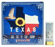 "Fiocchi Texas White Wing Dove Loads  20 Ga, 2.75"", 7/8oz, 7.5 Shot, 25rd Box"