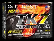 "Kent Cartridge TK7 Penetrator 20 Ga, 3.00"", 1 3/8oz, 7 Shot, 5rd Box"