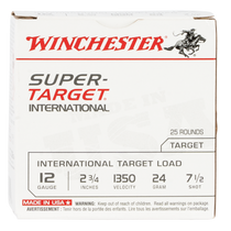 "Winchester Super Target 20 Ga, 2.75"", 7/8oz, 7.5 Shot, 25rd Box"