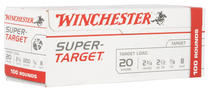 "Winchester Super Target 20 Ga, 2.75"", 7/8oz, 8 Shot, 100rd Box (Value Pack)"
