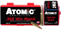 Atomic Rifle  308 Win/7.62 NATO 168gr, Hollow Point Boat Tail, 50rd Box