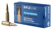 PPU Standard Rifle 6.5 Grendel 110gr, Full Metal Jacket Boat Tail, 20rd Box