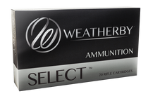Weatherby Select 257 Weatherby Mag 100gr, Hornady Interlock 20rd Box