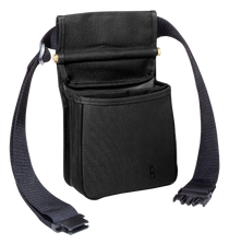 """Boyt Harness Divided Shell Pouch with 2"""" Wide Belt Leather Black"""