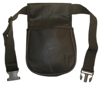 """Boyt Harness Classic Divided Shell Pouch with 2"""" Wide Belt Leather Black"""