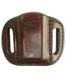 Kimber Magazine carrier belt loop for Solo magazine brown leather Kimber logo by Mitch Rosen
