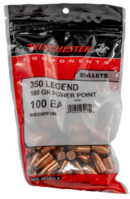 Winchester Reloading Bullets 350 Legend 180gr, 100 Power-Point