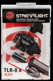 Streamlight TLR-8A Flex, Black, 500 Lumens, 1.5 Hour Runtime, Red Laser, High-Low Switch, CR123A Lithium Batt