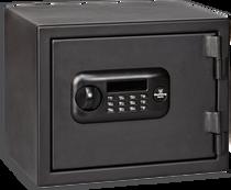 Bulldog Personal Digital Fire Vault, Electronic/Key, Keypad, Black Steel