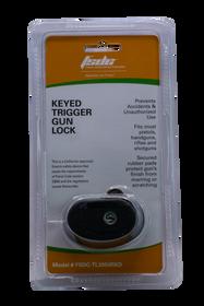 Firearm Safety Devices Keyed Trigger Lock Black Rubber Metal Lock
