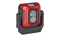 Streamlight Syclone Compact USB Rechargeable Multi-Function Worklight, Red, 3 Intensities, Charging Cord, White LEDs, Water-Resistant, Hands-Free, Magnetic Base, Stowable
