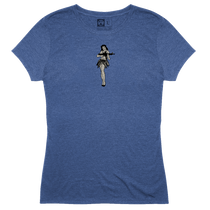 Magpul Tri-Blend Hula Girl Lady Shirt 4X Royal Heather