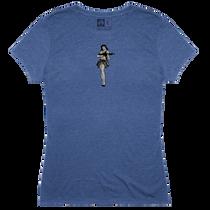 Magpul Tri-Blend Hula Girl Lady Shirt XXXL Royal Heather