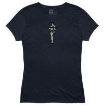 Magpul Tri-Blend Hula Girl Lady Shirt 4X Navy