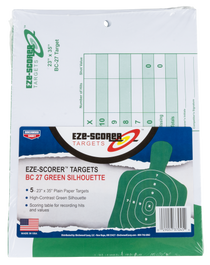 "Birchwood Casey EZE-Scorer BC-27 Paper 23"" x 35"" Silhouette Green, 5 Pack"