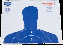 "Birchwood Casey EZE-Scorer BC-27 Paper 12"" x 18"" Silhouette Blue, 8 Pack"
