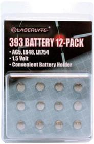 LaserLyte 393 1.5V (AG5, LR48, LR754)12 Pack