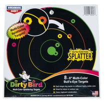 "Birchwood Casey Dirty Bird Bull's-Eye Tagboard 8"" Multi Color, 8 Pack"